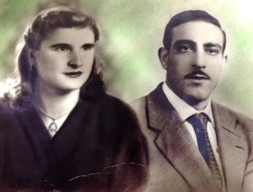 I miei genitori,mia madre diciannove anni e mio padre venticinque
