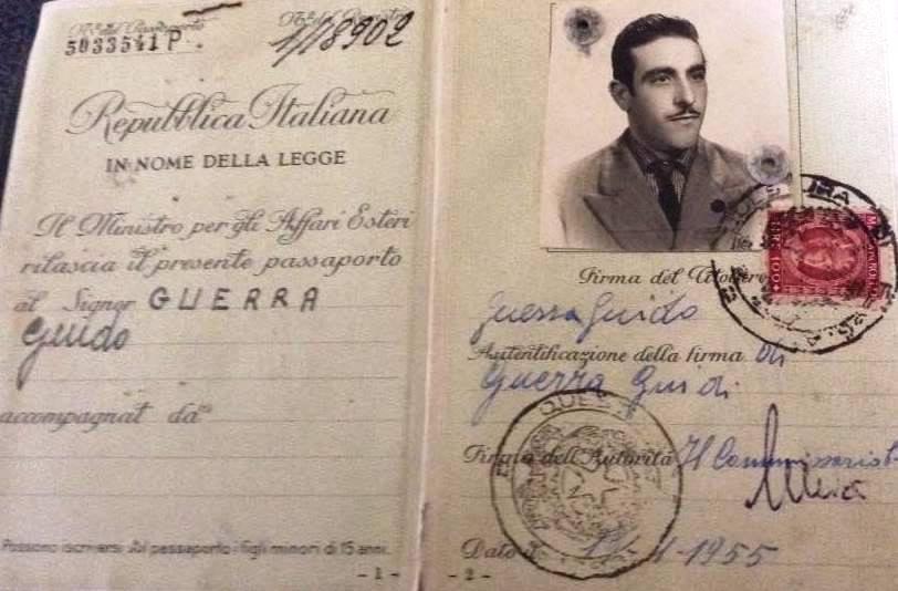 Passaporto padre Guerra